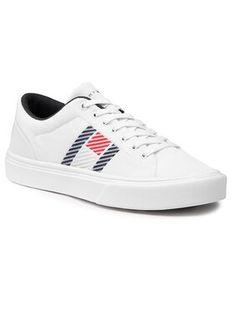 Tommy Hilfiger Sneakersy Lightweight Stripes Knit Sneaker FM0FM03400 Biały