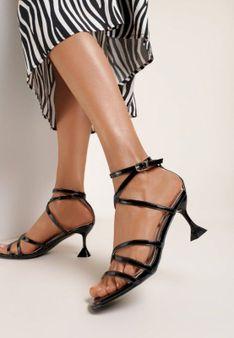 Czarne Sandały Ciresis