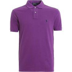 T-shirt męski Polo Ralph Lauren fioletowy
