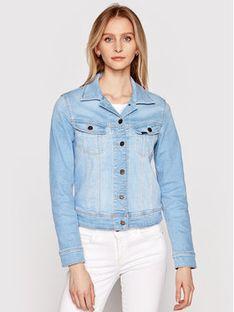 Lee Kurtka jeansowa Rider L541PQXL Niebieski Slim Fit