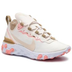 Buty NIKE - React Element 55 BQ2728 007 Phantom/Lt Orewood Brn