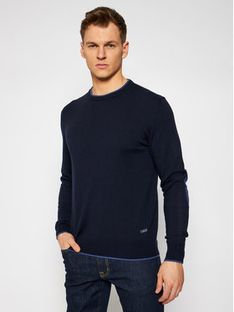 CMP Sweter 7H27451 Granatowy Slim Fit