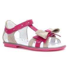Sandały Bartek W-36182/1M4, Dla Dziewcząt, Beżowo-Różowy