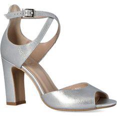 Czółenka Kotyl na obcasie peep toe eleganckie