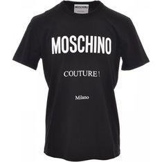 T-shirt męski Moschino na wiosnę z krótkim rękawem