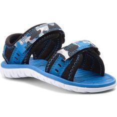 Sandały dziecięce Clarks niebieskie na rzepy moro
