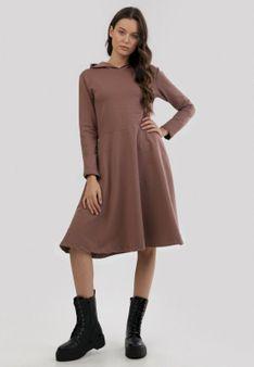 Beżowa Sukienka Kimolia