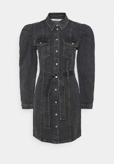 ONLY - Sukienka jeansowa - czarny denim