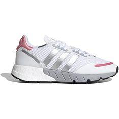 Buty sportowe damskie Adidas zx ze skóry na płaskiej podeszwie