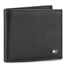 Duży Portfel Męski TOMMY HILFIGER - Eton Mini Cc Wallet AM0AM00655/83365 Black 002