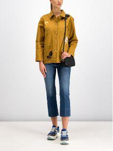 Tory Burch Kurtka jeansowa 55597 Żółty Regular Fit