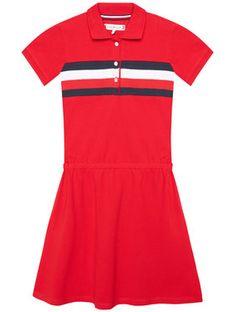 Tommy Hilfiger Sukienka codzienna KG0KG05637 M Czerwony Regular FItq