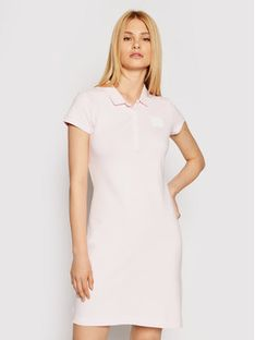 Tommy Hilfiger Sukienka codzienna WW0WW32434 Różowy Slim Fit