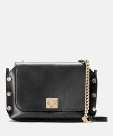 Czarna torebka damska z wymienną klapką
