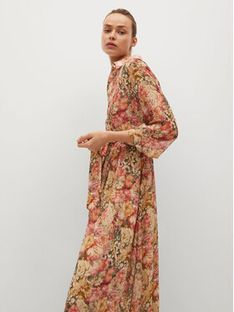Mango Sukienka koszulowa Pinkie 87015724 Kolorowy Regular Fit