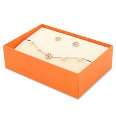 Zestaw bransoletka i kolczyki TORY BURCH - Miller Pave Bracelet  And Stud Earring Set 80319 Tory Gold/Crystal 783
