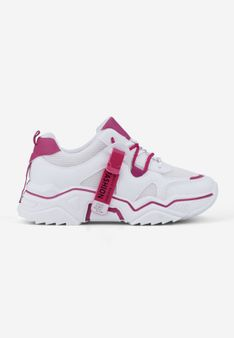 Sneakersy biało różowe Lydie