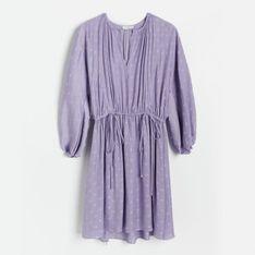 Reserved - Sukienka w groszki - Fioletowy