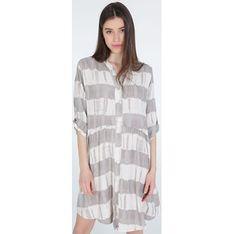 Unisono sukienka z długim rękawem casual w kratkę