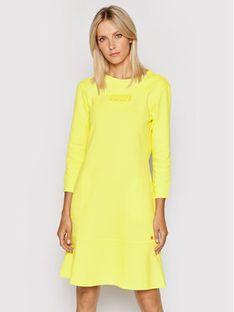 Joop! Sukienka dzianinowa 58 Jje704 Temie 30027650 Żółty Regular Fit