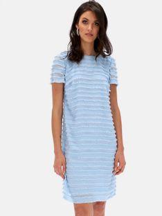 Błękitna sukienka z frędzlami L`AF REBECA