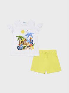 Mayoral Komplet t-shirt i spodenki 6282 Kolorowy Regular Fit