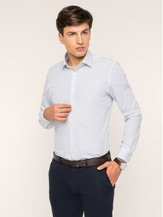 Strellson Koszula 30017489 Biały Slim Fit
