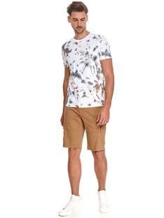 T-shirt męski we wzory
