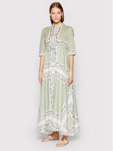 Tory Burch Sukienka letnia Printed 83310 Zielony Regular Fit