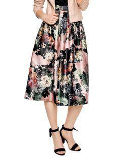 Rozkloszowana spódnica w kwiaty L`AF FLOWER