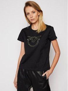 Pinko T-Shirt Quentin PE 21 BLK01 1G1610 Y4LX Czarny Regular Fit