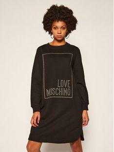 LOVE MOSCHINO Sukienka dzianinowa W5B9701M 4055 Czarny Regular Fit