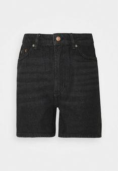ONLY - Szorty jeansowe - czarny denim