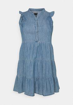 ONLY Carmakoma - Sukienka jeansowa - niebieski denim