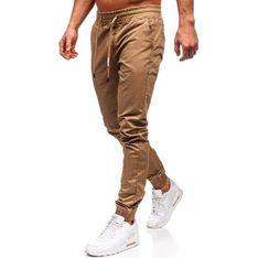 Spodnie męskie brązowe Denley