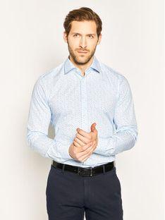 Strellson Koszula Santos 30018823 Bordowy Slim Fit
