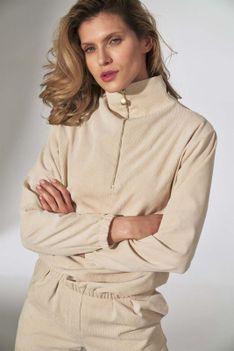 Sztruksowa Bluza na Stójce - Beżowa