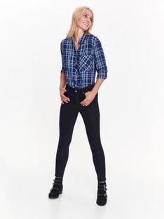 Spodnie damskie długie z metalowym zdobieniem