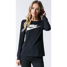 Bluzka damska Nike z długim rękawem sportowa