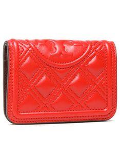 Tory Burch Duży Portfel Damski Fleming Medium Slim Wallet 79404 Czerwony