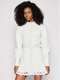 Silvian Heach Sukienka koszulowa Kiuba PGP21110VE Biały Regular Fit
