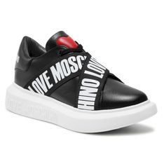 Sneakersy LOVE MOSCHINO - JA15254G0CIA0000  Nero