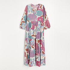 Reserved - Wzorzysta sukienka z wiskozy - Wielobarwny