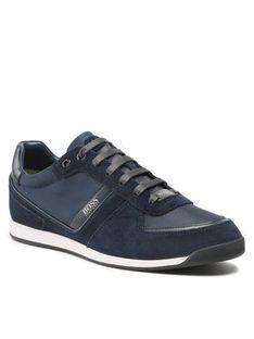 Boss Sneakersy Glaze 50407903 10214592 01 Granatowy