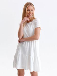 Ażurowa sukienka z krótkim rękawem