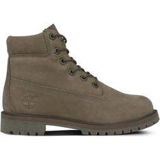 Buty zimowe dziecięce Timberland wiązane bez wzorów trapery