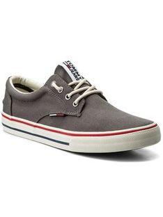 Tommy Jeans Tenisówki Textile Sneaker EM0EM00001 Szary