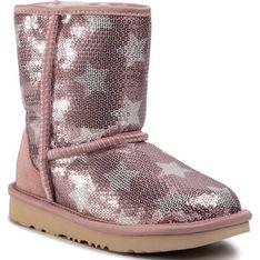 Buty zimowe dziecięce Ugg emu różowe bez zapięcia