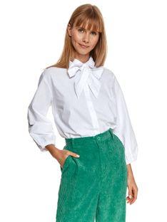 Koszula damska z wiązaniem pod szyją