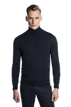 Granatowy sweter gofl Recman WENLOCK GM